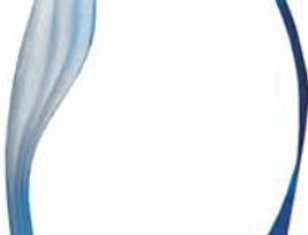 "TEARDROP BLUE MEDIUM 4 3/4"" X 8 3/4"""