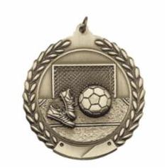 """Standard Die Cast 2 3/4"""" Gold Soccer Medals"""