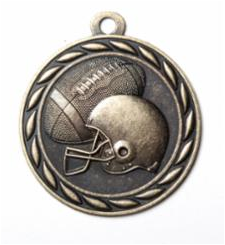 "Standard 2"" Gold Football Medals"