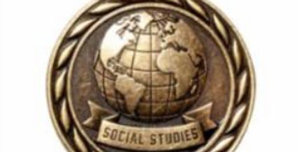 "Standard 2"" Gold Social Studies Medal"
