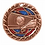 """Thumbnail: Red/Blue Glitter 2.5"""" Volleyball Bronze Medals"""