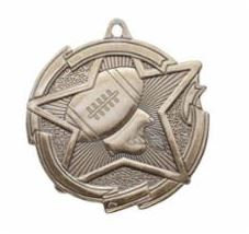 "Star 2"" Gold Football Medals"