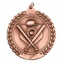 "Standard Die Cast 2 3/4"" Bronze Baseball Medals"