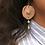 Thumbnail: Single Nip-Pearl earring with double pearl in Nude