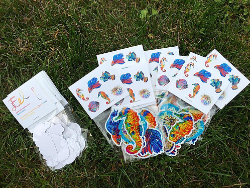 Eel Fish sticker pack of 4