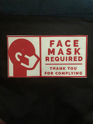 Face Mask Required: Vinyl Decal