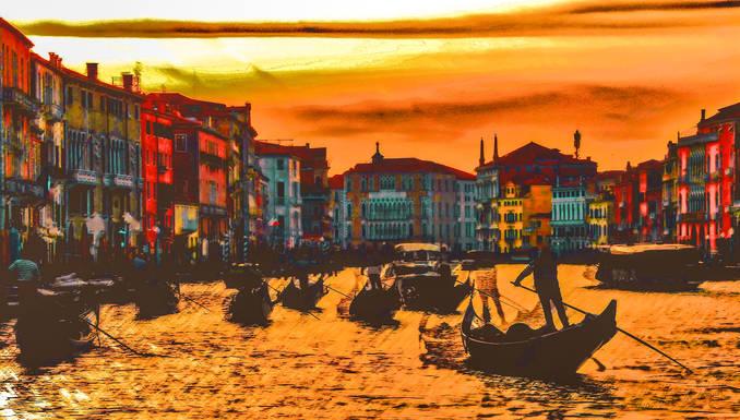 Couché de soleil sur Venise