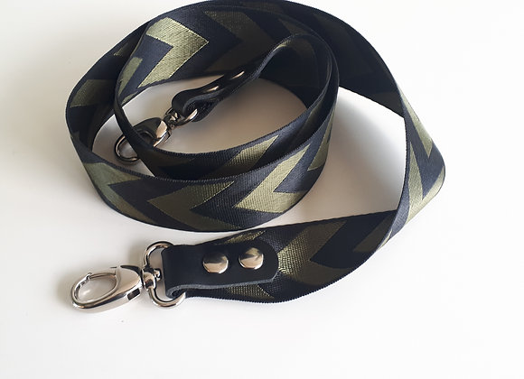 Schouderband Zigzag Green&black