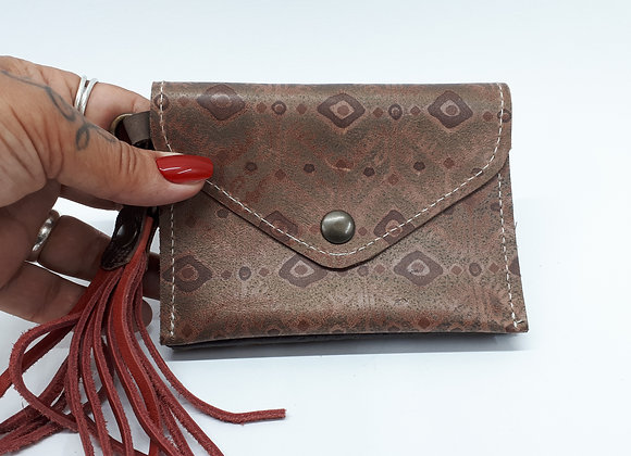 Triple-wallet Bronze/brown/red