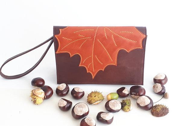 AutumnClutchBag Brown
