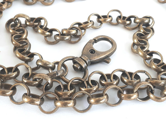 Ketting (schouderband) brons