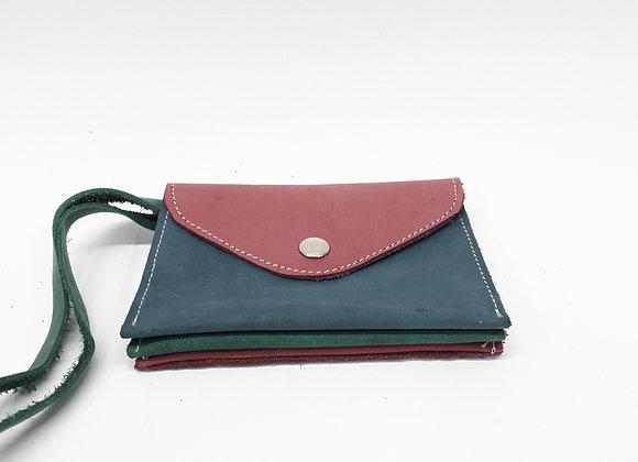 TripleWallet Pink/green/blue