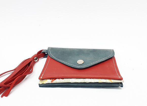Triple-wallet Red/white/blue