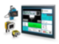 Our all-in-one system includes all you need: Printer and camera with visualisation control on a IPC touch panel.