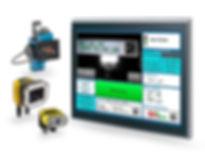 Unser All-In-One System, zugeschnitten auf Ihren Bedarf:  Drucker und Kamera mit Visualisierung auf einem IPC Touch Panel.