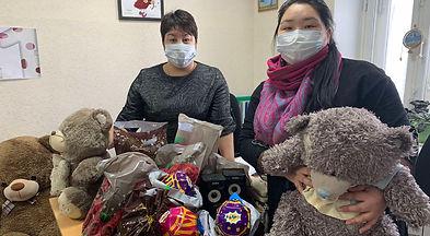 Подарки детям из комплексного центра от