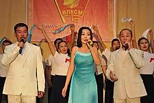 Степные напевы с концертом, посвящённым 100-летию со дня образования комсомола в Усть-Орде