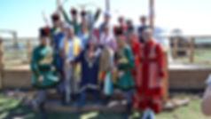 """Встреча в Этнопарке """"Золотая орда"""" Джона Уорренаведущего программы «Поедем, поедим!» на канале НТВ"""