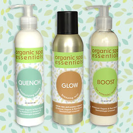 Quench moisturizer, Glow organic tan solution , Boost tan extender