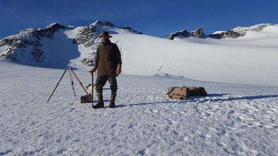 Wheeler recree Rainbow Mountain on Glaci