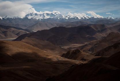 Himalayan View from Pang La Pass Tibet 5