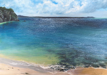 Porthpean painting, south cornwall painting,