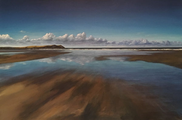 polzeath painting, stepper point painting, daymer bay painting, seascape painting, north cornish painting