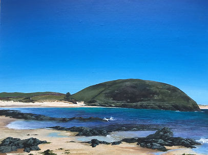 bray hill painting, brae hill painting, daymer bay painting, daymer beach painting, north cornwall painting, padstow painting, cornish artist