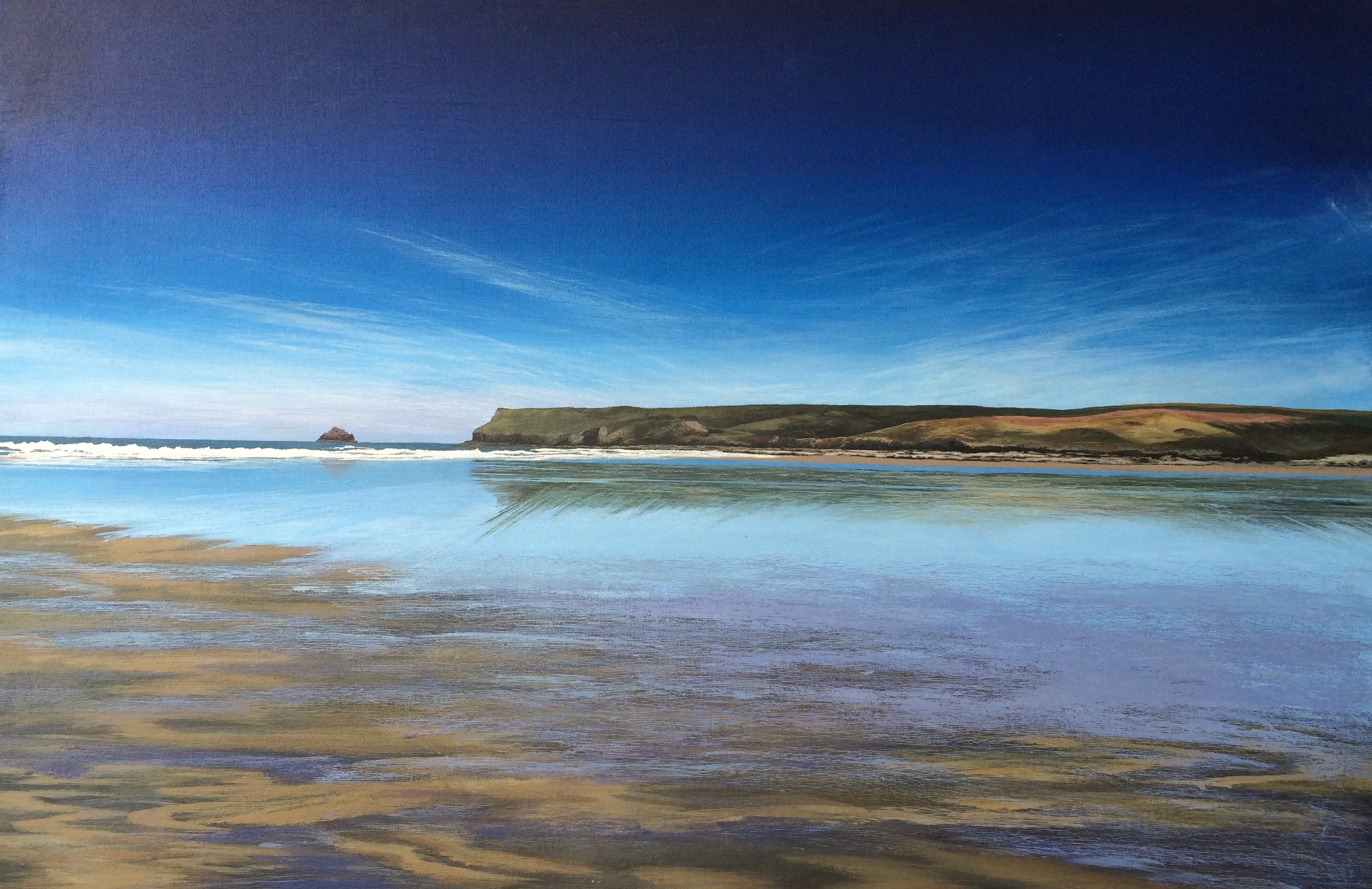 'Clear day at Polzeath'
