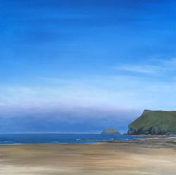 'Low tide at Polzeath'