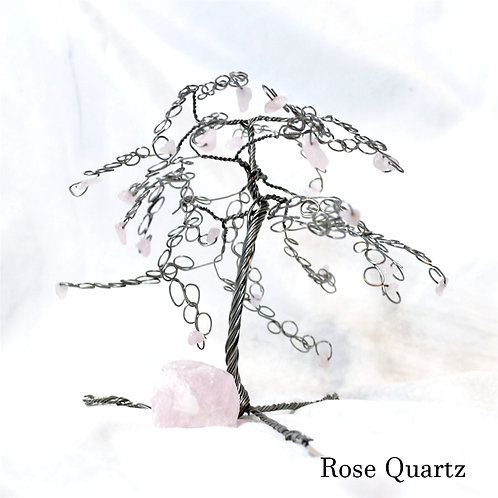 Rose Quartz Crystal Tree