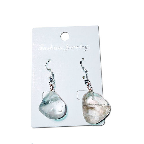 Smokey Quartz Earrings - Silver Hooks