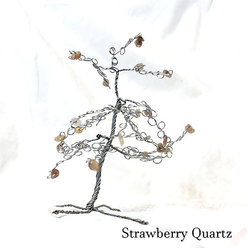 Strawberry Quartz Crystal Tree