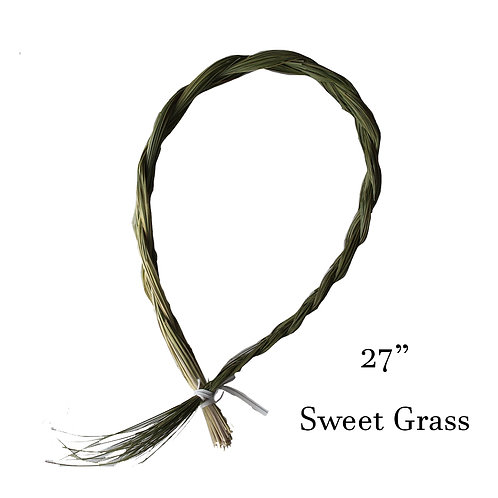 "Sweet Grass Braid - Local, Organic - 18"" to 24"""