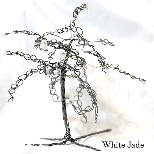 White Jade Crystal Tree