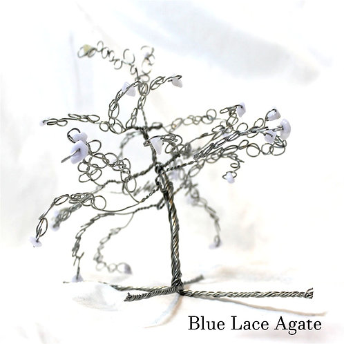 Blue Lace Agate Crystal Tree