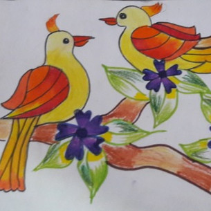 Lovebirds by Aarya Dharmadhikari
