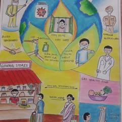 Corona awareness by Vedashri Walimbe