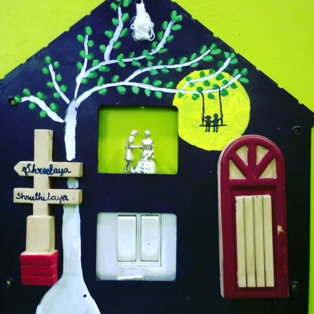 switch board decorations by SHRUTHILAYA