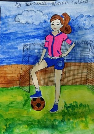 Football is my passion by Harmeet Kaur