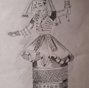Manipuri dance by Anika Nair