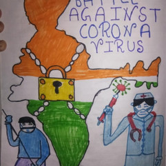 battle against Corona by Rakshita Dodwan
