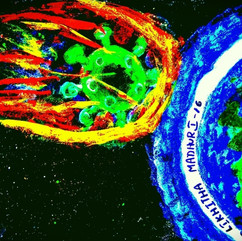 Corona Space attack by Oleti Likhitha Ma
