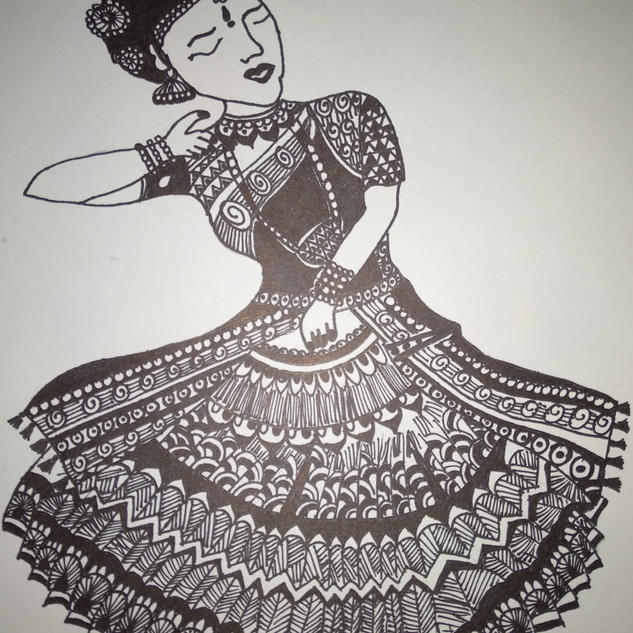 Dancing Girl by G.Priya