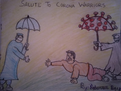 Salute to corona warriors by Debarun Dey