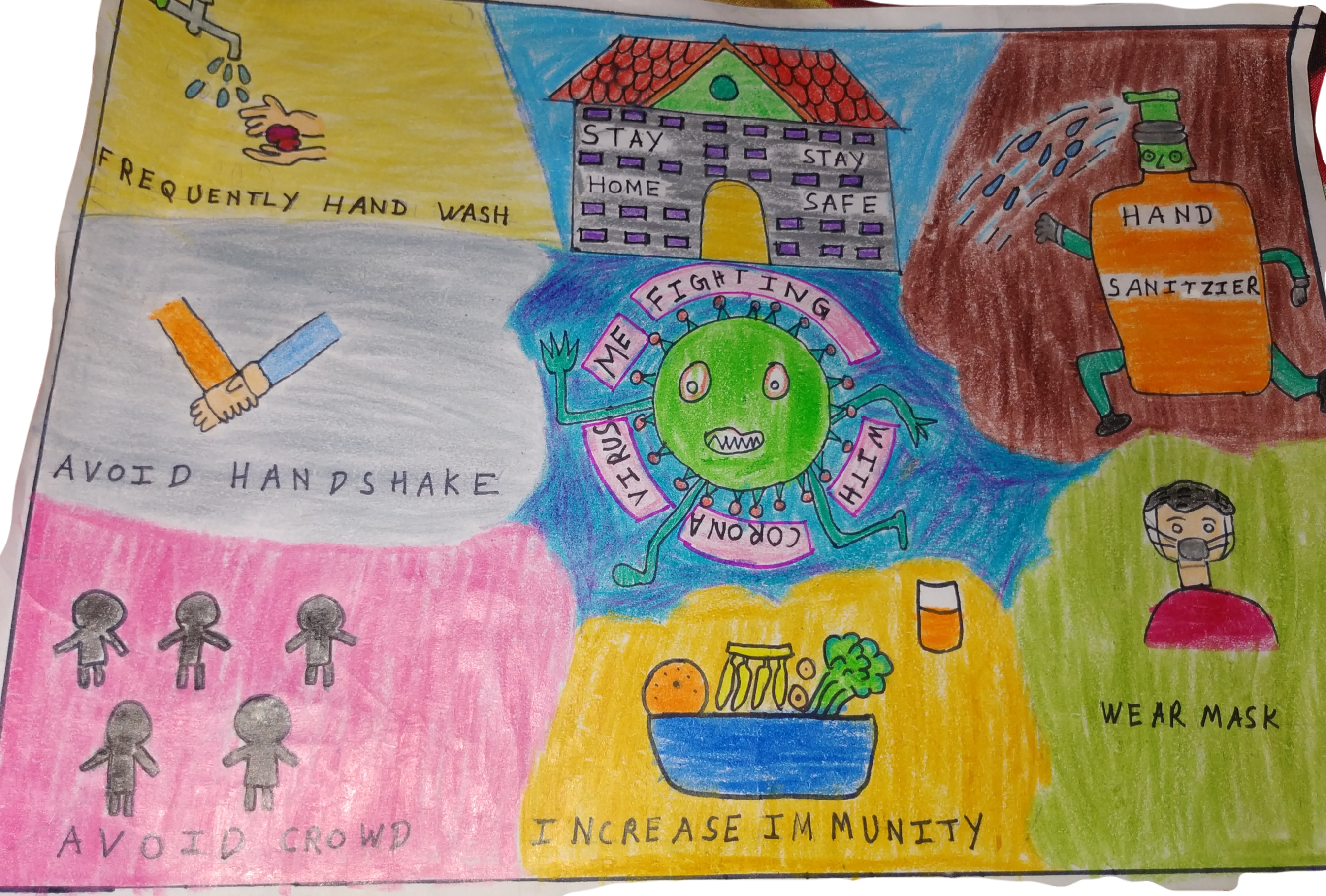 Corona , Stay Safe, by Aarush, 8 Years