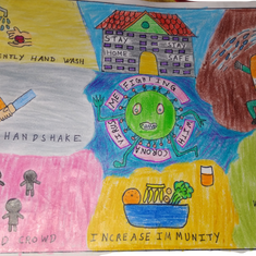 Corona , Stay Safe, by Aarush, 8 Years.p