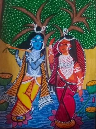 Kali ghat painting by Shubh Agarwal
