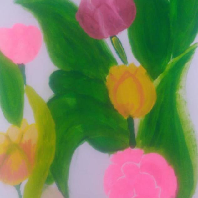 Floweral Art by Harmehar Bhasin
