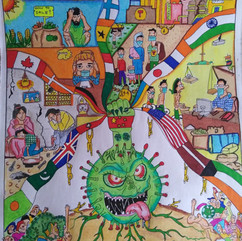 Global disaster covid-19 by Aarish J